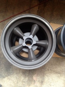 Vintage Engineering magnesium Torq-Thrust wheels for Jason Rhoades 1967 Z28 Camaro