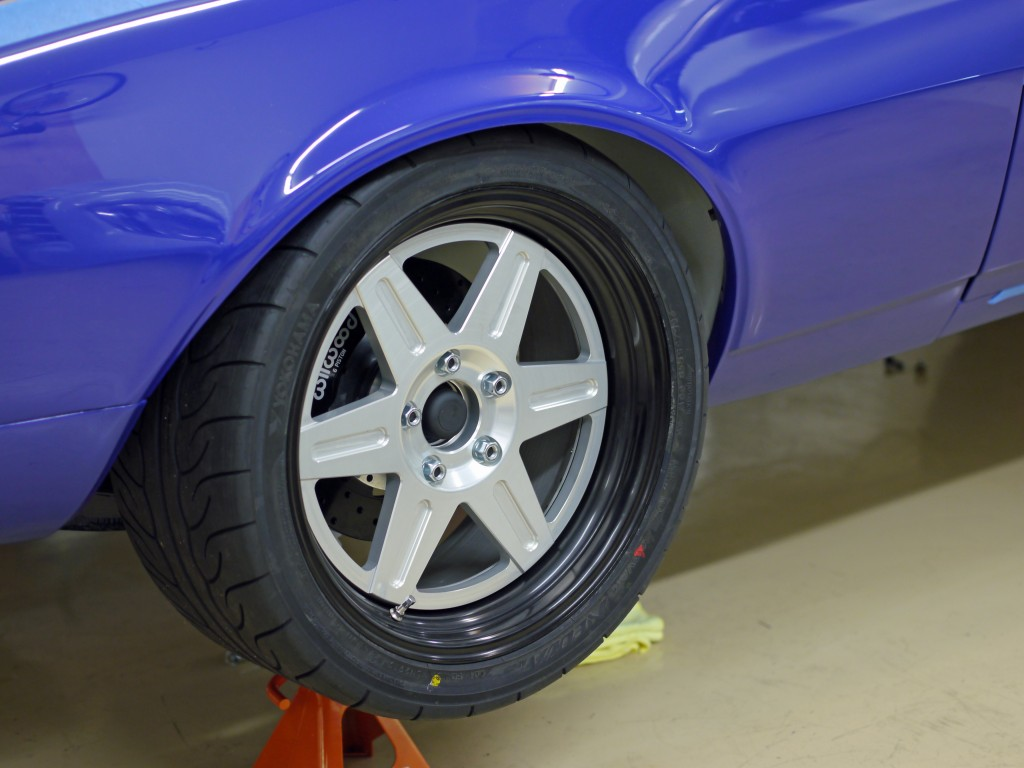 Jongbloed front wheel on Jason Rhoades 1967 STX Camaro with 265/35-18 Yokohama Advan Neova AD08 tire