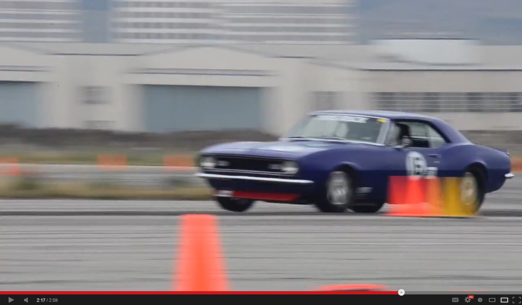 Jason Rhoades STX Camaro lifts a front tire