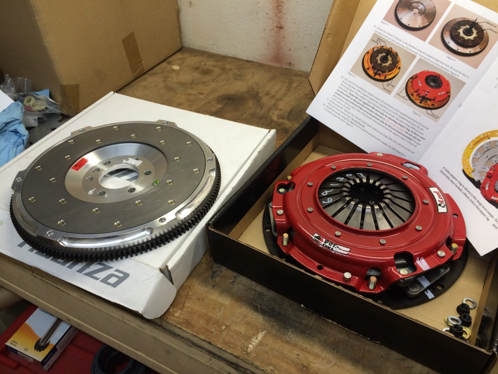 McLeod RST twin disc clutch and Fidanza aluminum flywheel